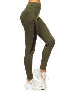Zielone legginsy damskie Denley Z001
