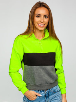 Zielony-neon bluza damska Denley KSW2021