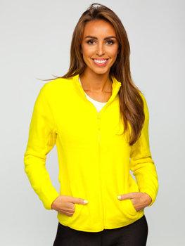 Żółta polarowa bluza damska Denley HH001