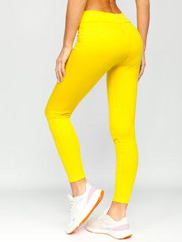 Żółte legginsy damskie Denley YW01058