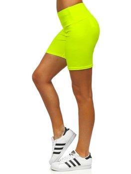 Żółty-neon krótkie legginsy damskie Denley 54548
