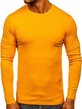 Żółty sweter męski Denley YY01