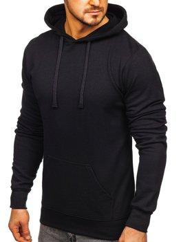 Bluza męska z kapturem czarna Denley AK47-B