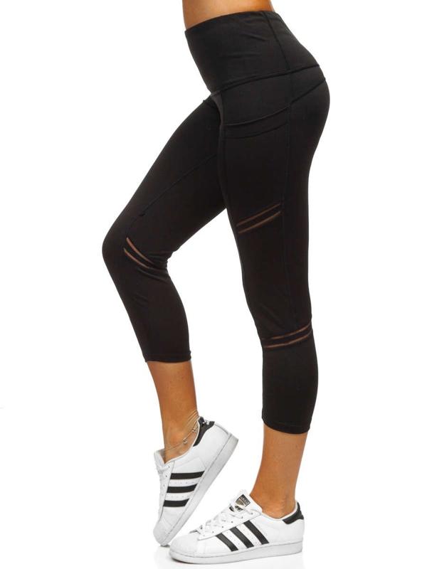 Czarne legginsy damskie Denley 54480