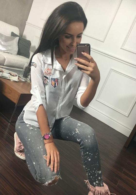 Koszula damska biała Denley 01