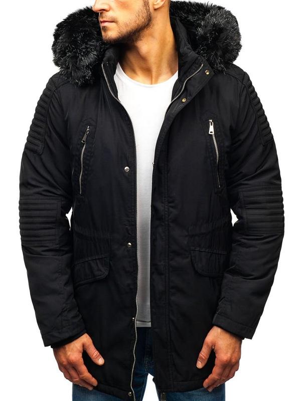 Kurtka męska zimowa czarna Denley 88859