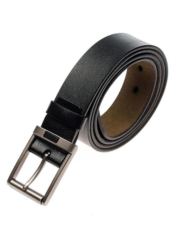 Pasek skórzany męski czarny Denley P008-A