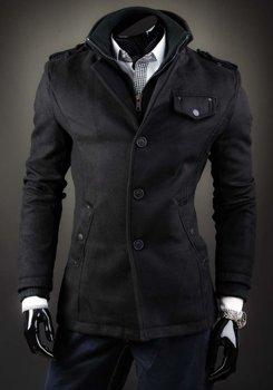 Płaszcz męski czarny Denley 8853B
