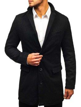 Płaszcz męski czarny Denley NZ01