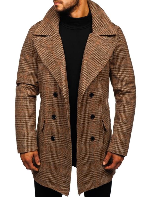 Płaszcz męski zimowy brązowy Denley 1117