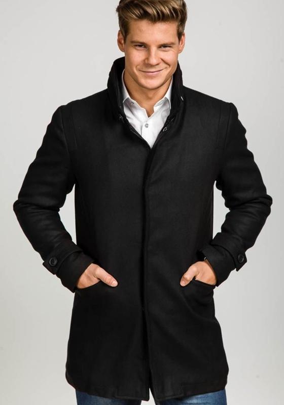 Płaszcz męski zimowy czarny Denley 3140