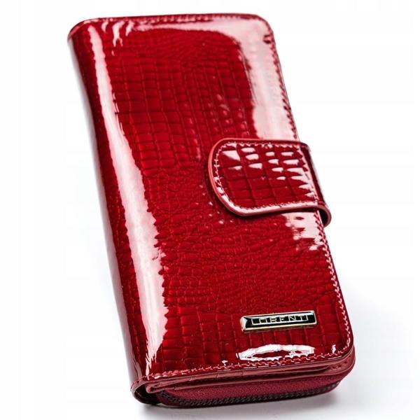 Portfel damski skórzany czerwony 2772