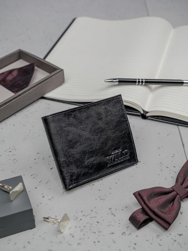 Portfel męski skórzany czarny 3190