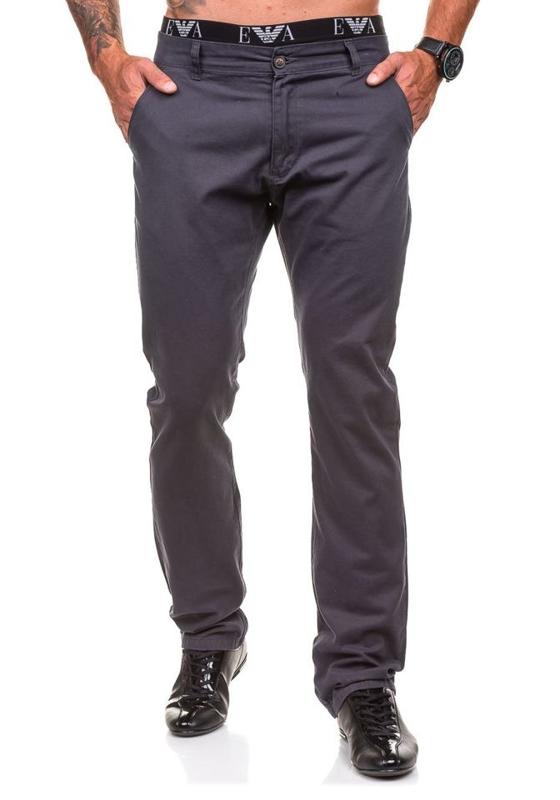 Spodnie chinosy męskie grafitowe Denley 570