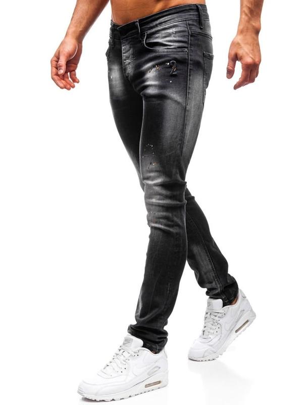 Spodnie jeansowe męskie czarne Denley 9231