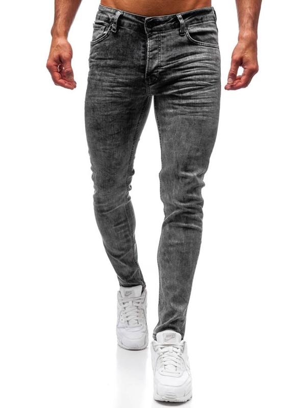 Spodnie jeansowe męskie grafitowe Denley 1000