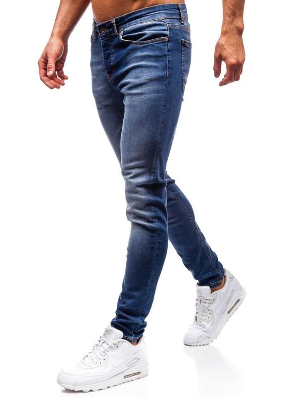 Spodnie jeansowe męskie granatowe Denley 1032