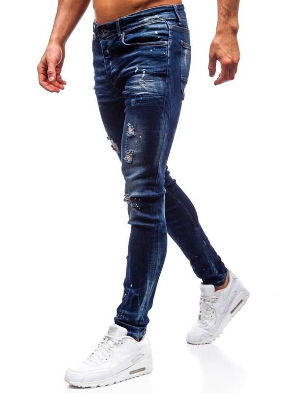 Spodnie jeansowe męskie granatowe Denley 1037