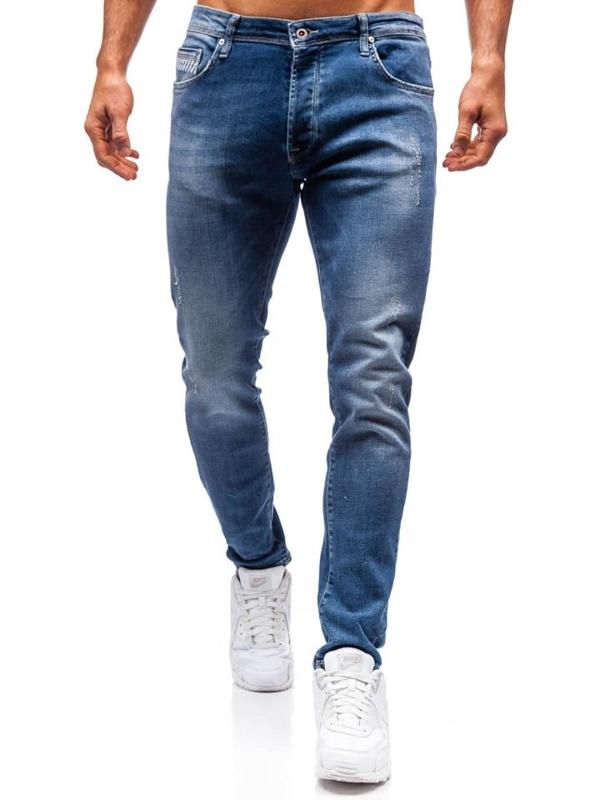 Spodnie jeansowe męskie granatowe Denley 7161