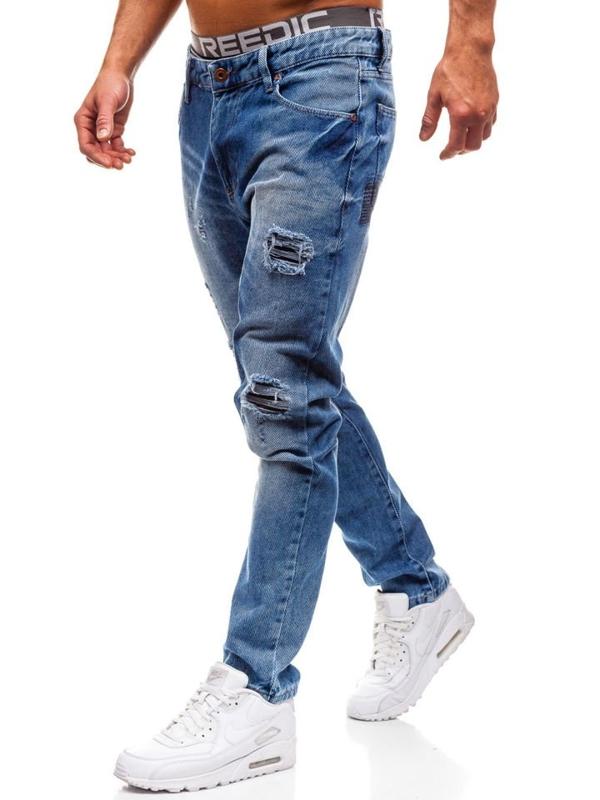 Spodnie jeansowe męskie niebieskie Denley 0167