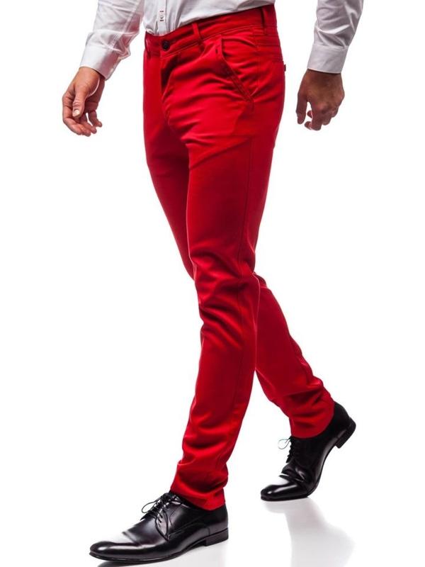 Spodnie wizytowe męskie czerwone Denley 3166