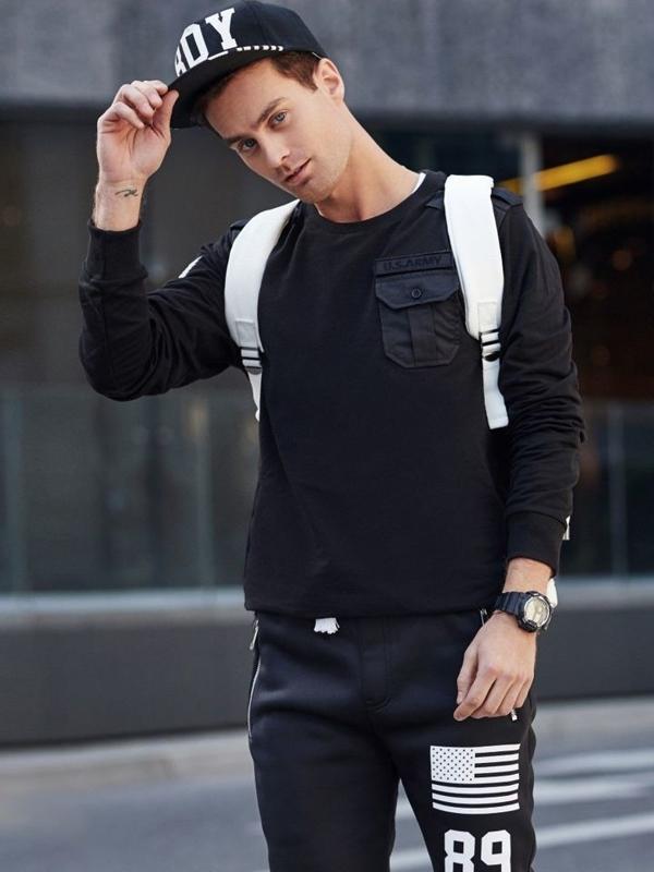 Stylizacja nr 331 - zegarek, bluza bez kaptura, spodnie baggy