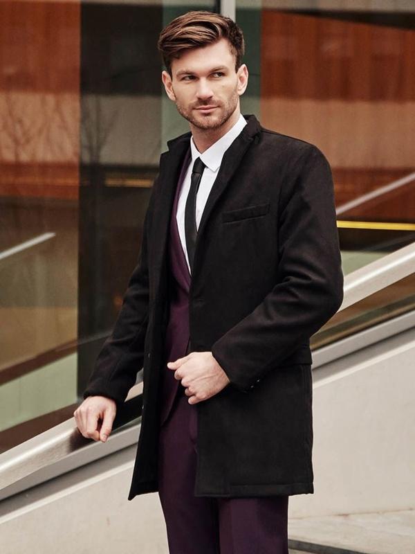 Stylizacja nr 383 - płaszcz dyplomatka, garnitur, elegancka koszula, krawat