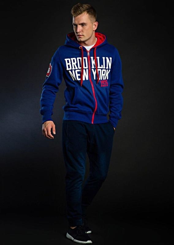 Stylizacja nr 46 - bluza z kapturem, T-shirt, spodnie baggy, buty