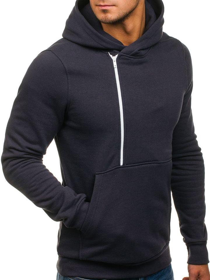 bluza dresowa ciemno grafitowa męska