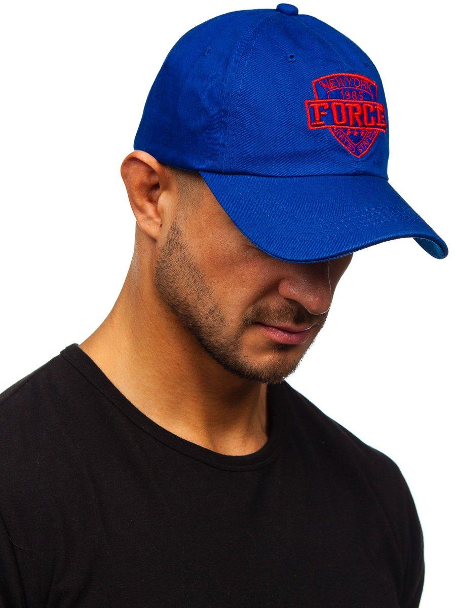 Niebieska-czapka-z-daszkiem-Denley