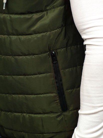 Bezrękawnik męski z kapturem zielony Denley AK90