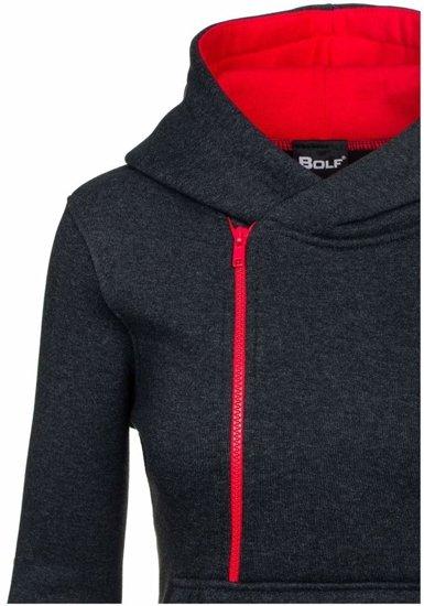 Bluza damska antracytowo-czerwona Bolf 45S