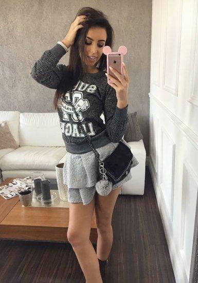 Bluza damska czarna Denley 7256