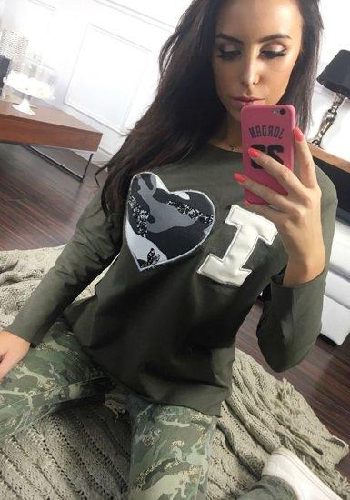 Bluza damska khaki Denley 03