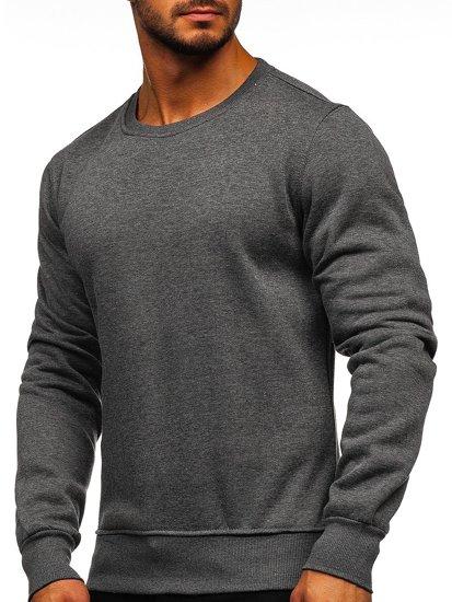 Bluza męska bez kaptura antracytowa Denley 2001
