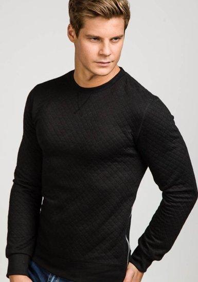 Bluza męska bez kaptura czarna Denley 1818