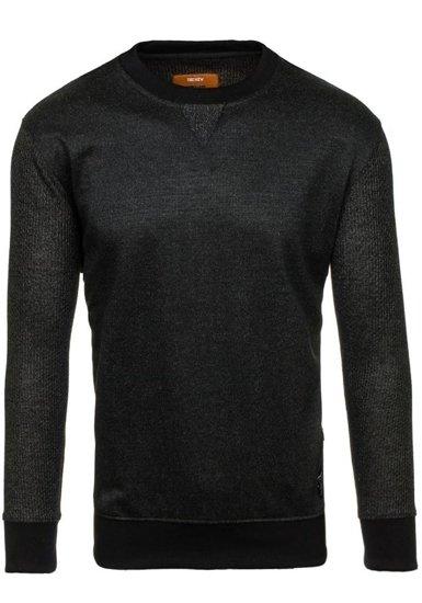 Bluza męska bez kaptura czarna Denley 3672