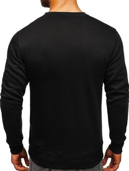 Bluza męska bez kaptura czarno-seledynowa Denley 2010