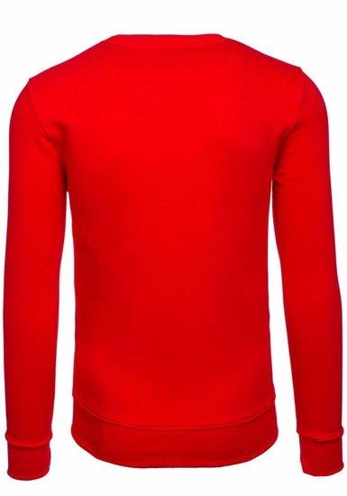 Bluza męska bez kaptura czerwona Bolf 44S