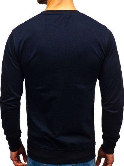 Bluza męska bez kaptura granatowa Denley 1221