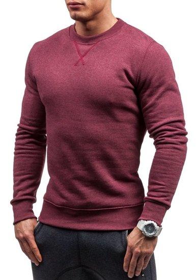 Bluza męska bez kaptura jasnobordowa Bolf 44S