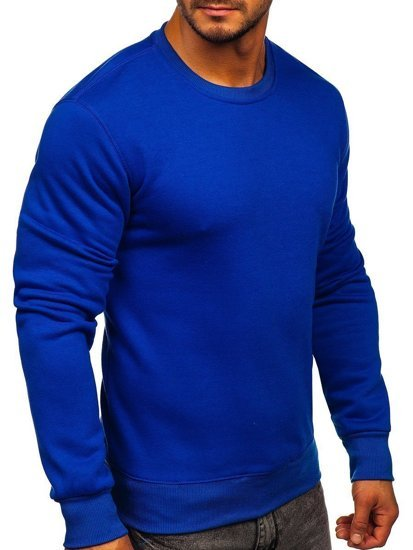 Bluza męska bez kaptura kobaltowa Bolf BO-01