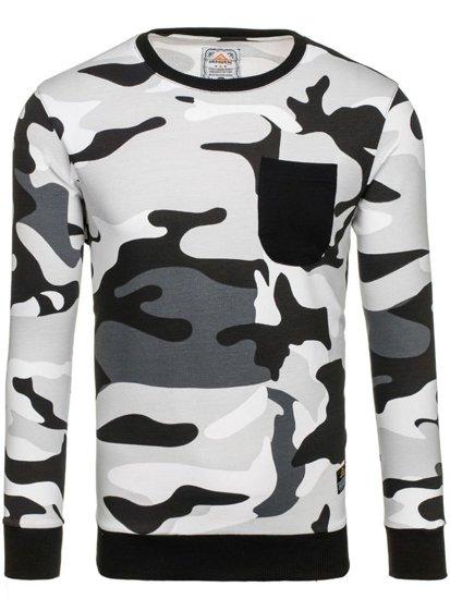 Bluza męska bez kaptura moro-szara Denley 0741