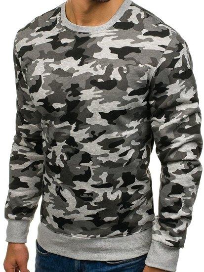 Bluza męska bez kaptura moro-szara Denley DD129-2