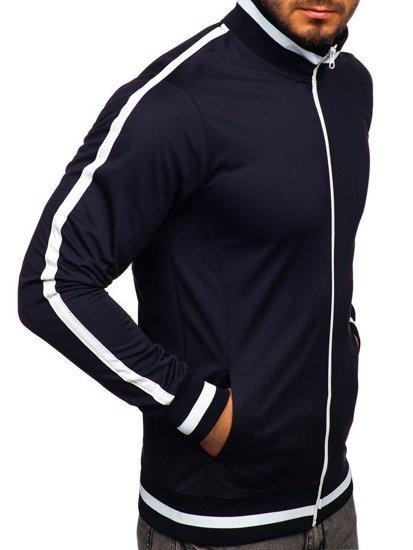 Bluza męska bez kaptura rozpinana retro style granatowa Bolf 2126