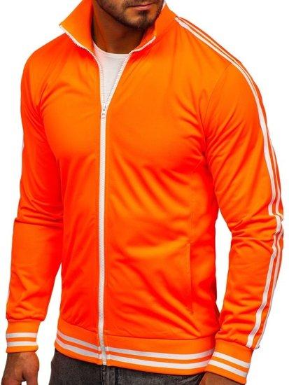 Bluza męska bez kaptura rozpinana retro style pomarańczowa Bolf 11113