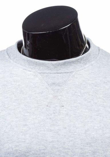 Bluza męska bez kaptura szara Bolf 44S