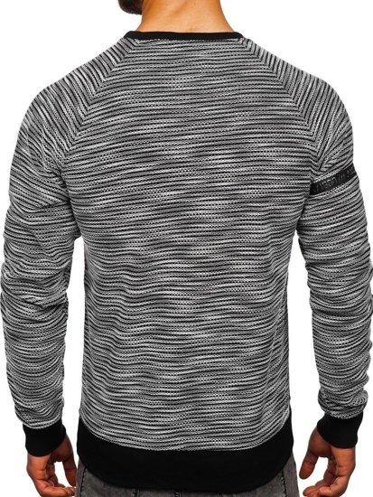 Bluza męska bez kaptura z nadrukiem szara Denley DD713