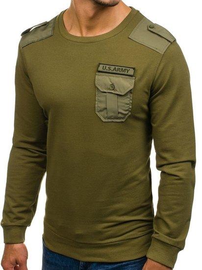 Bluza męska bez kaptura zielona Denley 0441