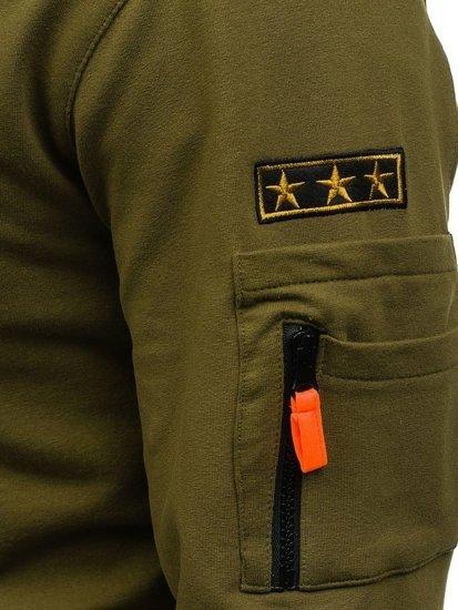 Bluza męska bez kaptura zielona Denley 0733